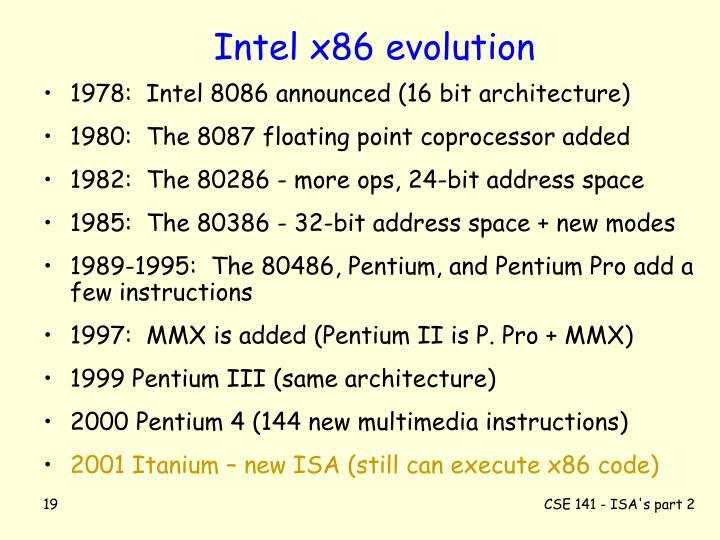 Intel x86 evolution