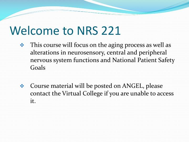 Welcome to NRS 221
