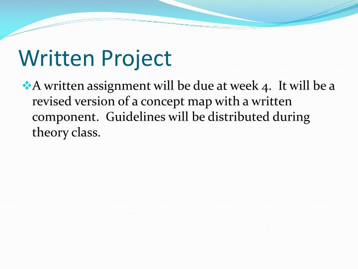 Written Project