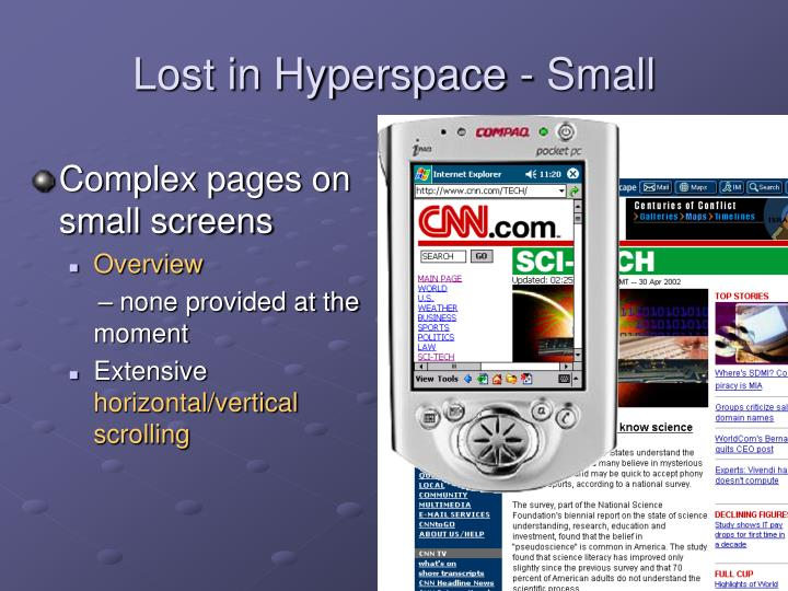 Lost in Hyperspace - Small