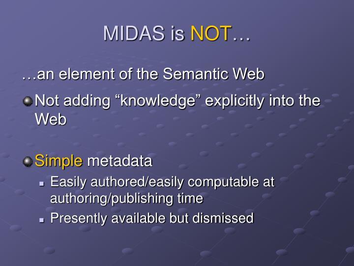 MIDAS is