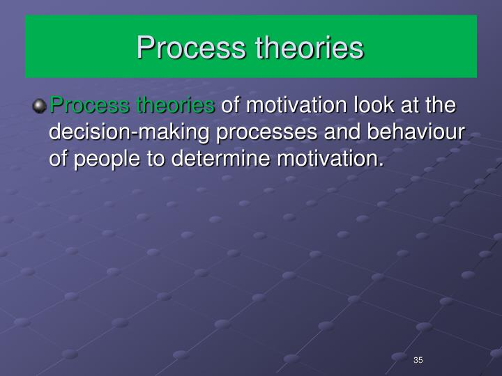 Process theories