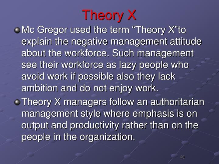 Theory X