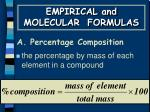a percentage composition