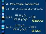 a percentage composition1