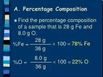a percentage composition2