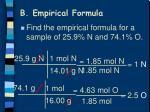 b empirical formula2