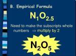 b empirical formula3