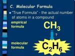 c molecular formula