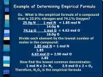 example of determining empirical formula