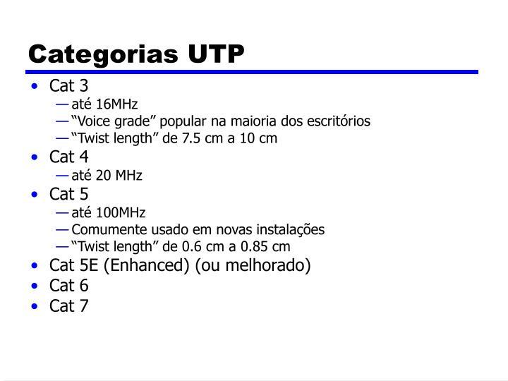 Categorias UTP