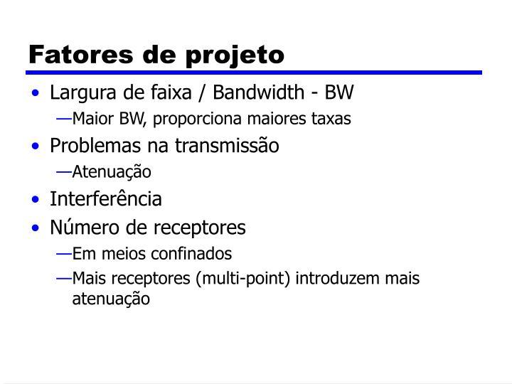 Fatores de projeto