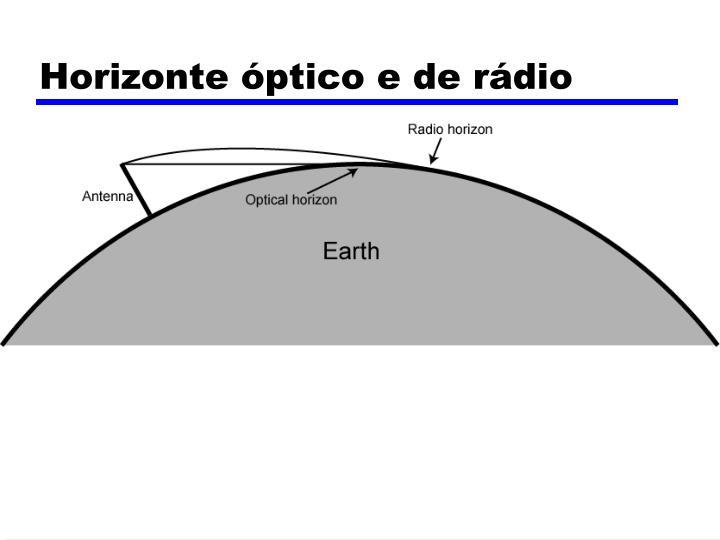 Horizonte óptico e de rádio