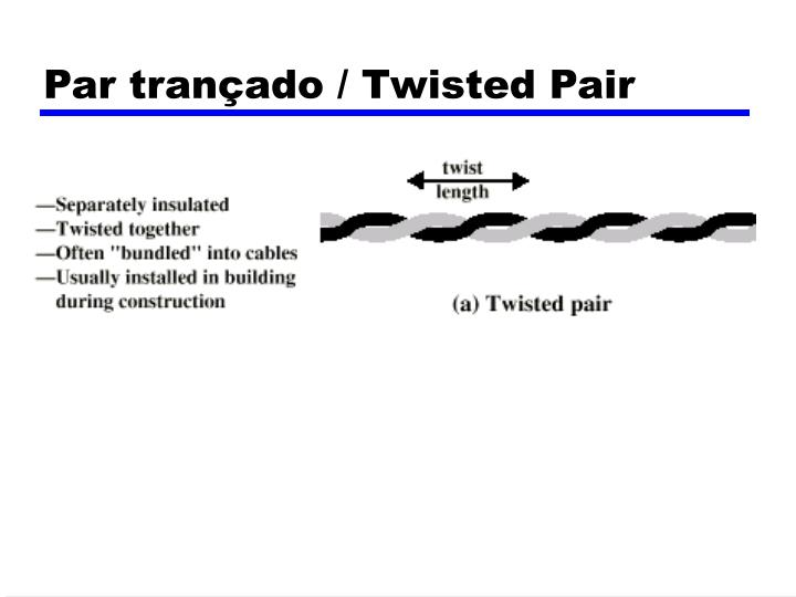 Par trançado / Twisted Pair