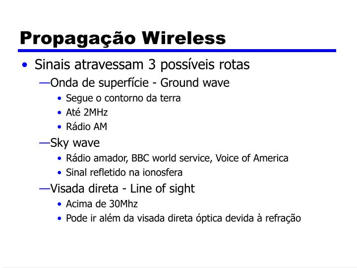 Propagação Wireless