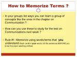 how to memorize terms