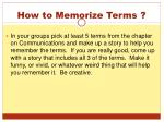 how to memorize terms1
