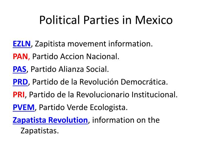 Political Parties in Mexico
