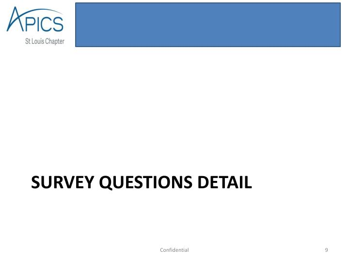 SURVEY questions detail