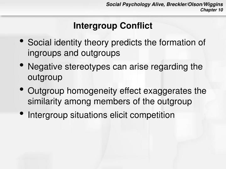 reducing intergroup conflict Reducing intergroup conflict abstract basically intergroup conflict involves conflict involves of interests with competing group this t paper outlines the causes of inter group conflict.