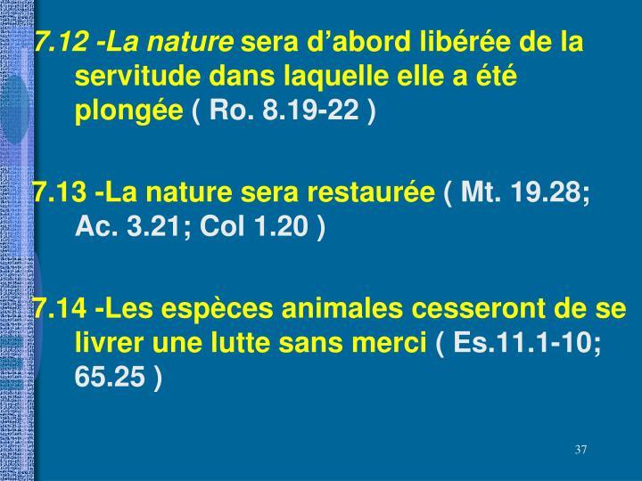 7.12 -La nature