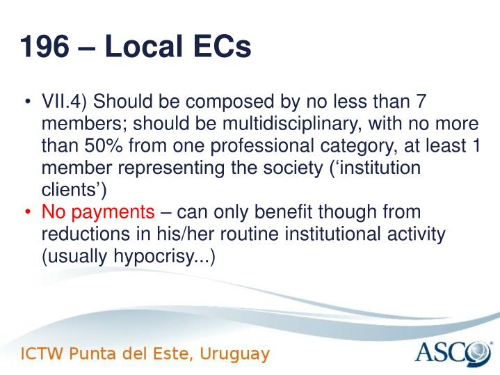 196 – Local ECs