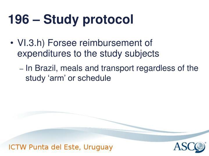 196 – Study protocol
