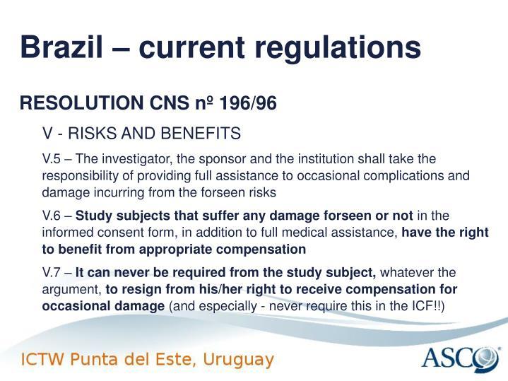 Brazil – current regulations
