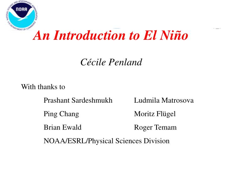 An Introduction to El Ni