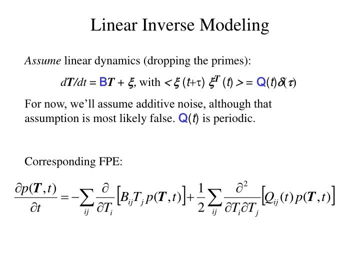 Linear Inverse Modeling