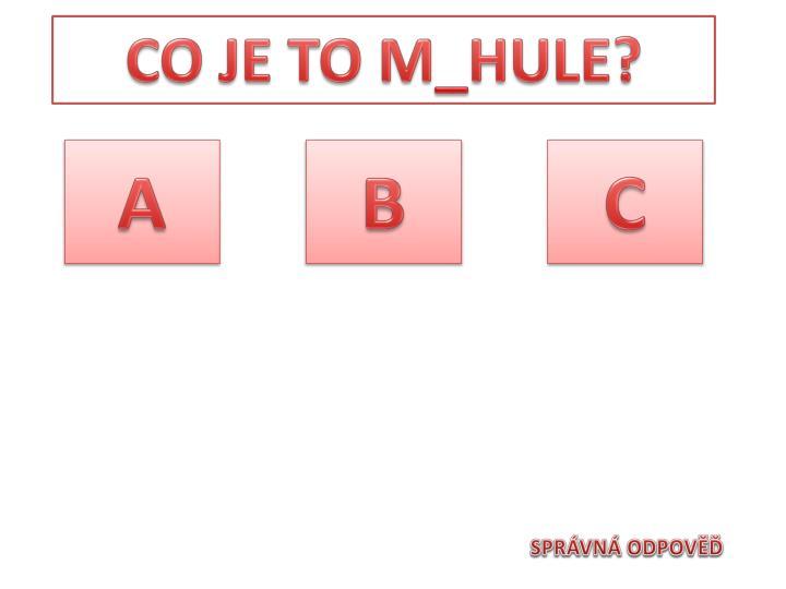 CO JE TO M_HULE?
