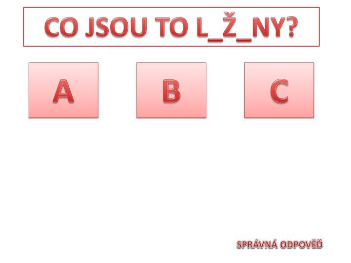 CO JSOU TO L_Ž_NY?