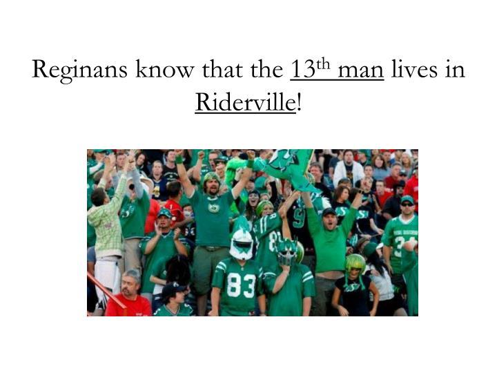 Reginans know that the