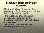 blockade effect on system currents