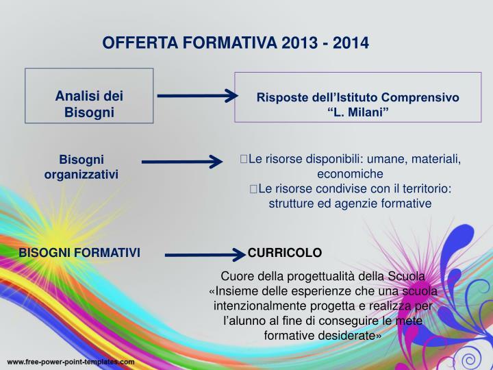 OFFERTA FORMATIVA 2013 - 2014