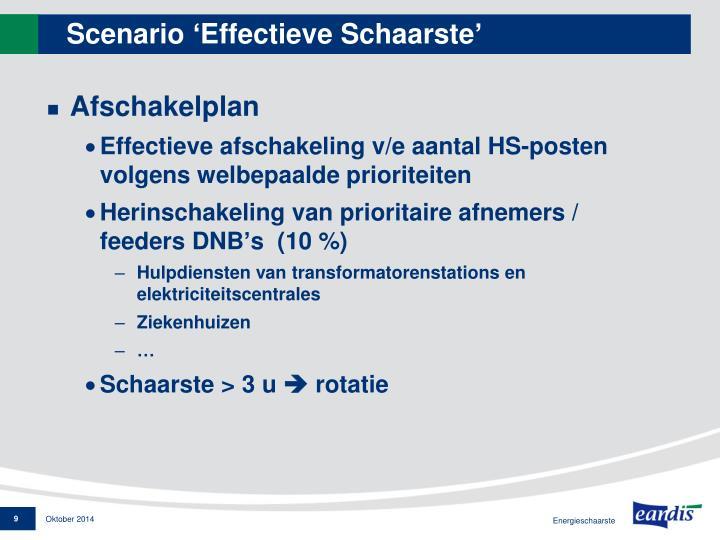 Scenario 'Effectieve Schaarste'