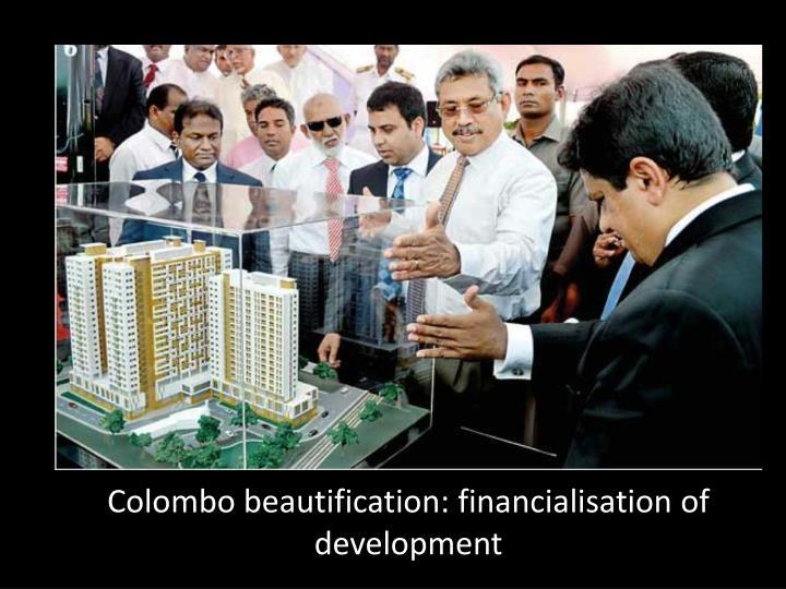 Colombo beautification: