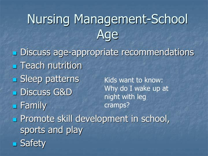 Nursing Management-School Age