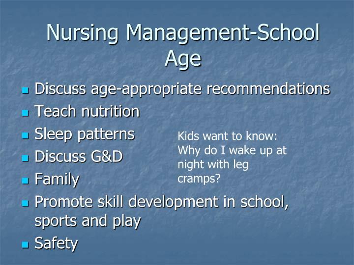 Nursing Management-School Age
