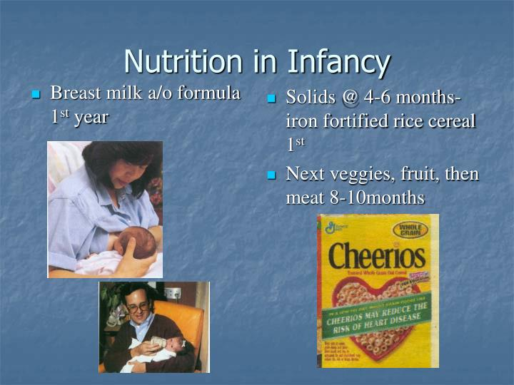 Nutrition in Infancy