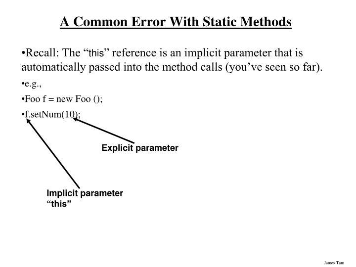 Explicit parameter