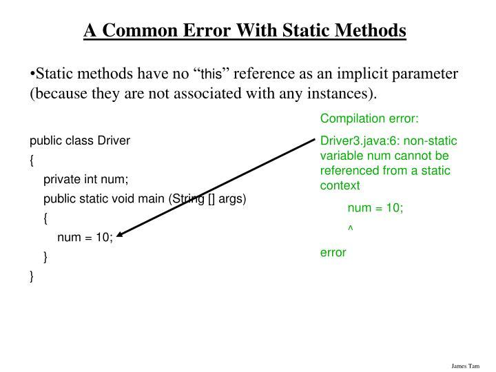 Compilation error: