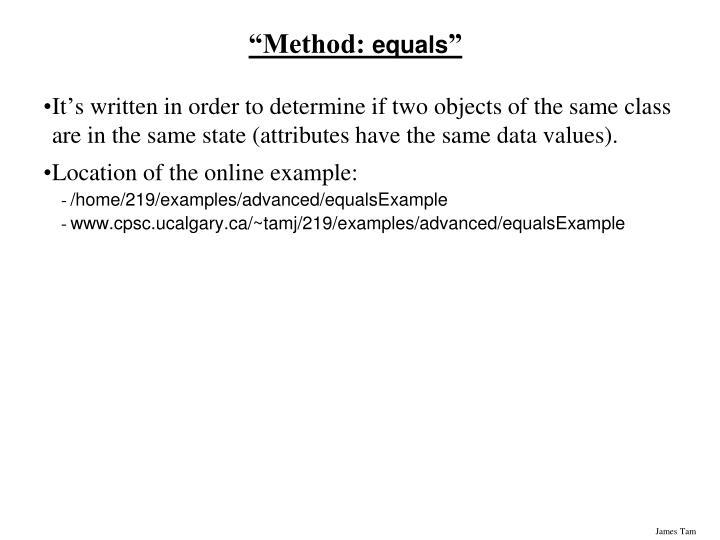 """Method:"