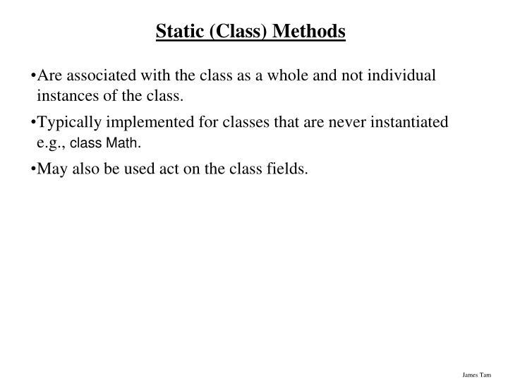 Static (Class) Methods