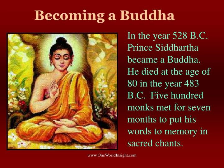 Becoming a Buddha