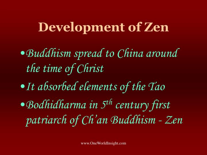 Development of Zen