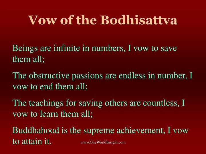 Vow of the Bodhisattva