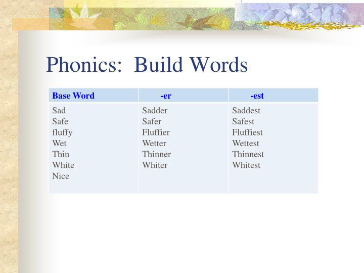 Phonics:  Build Words