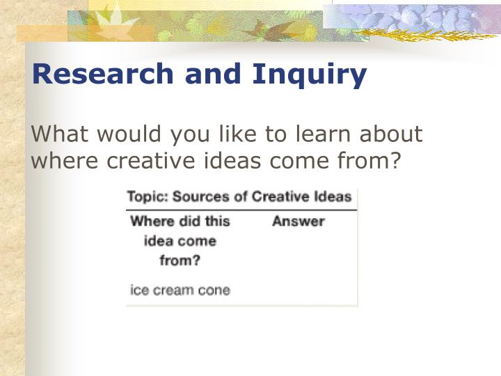 Research and Inquiry