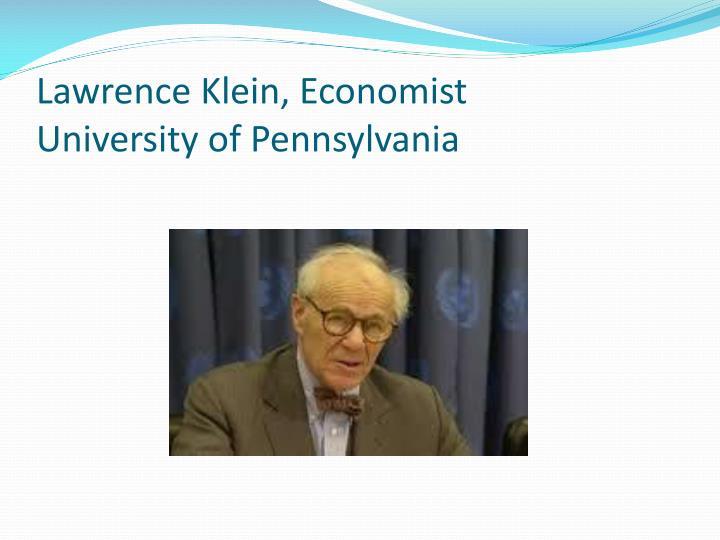 Lawrence Klein, Economist